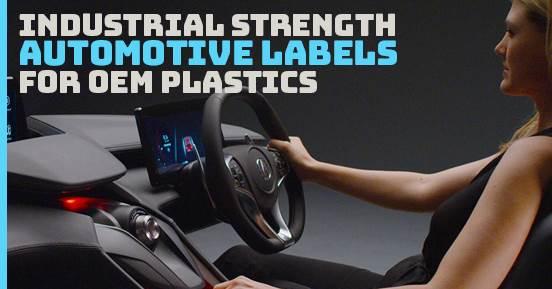 Industrial Strength Automotive Labels For OEM Plastics